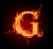 燃烧着的英文字母图片素材G