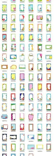 100个向量图ai档可爱的动物边框图片