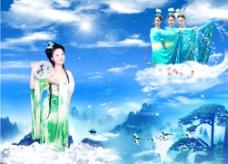 天上仙女图片