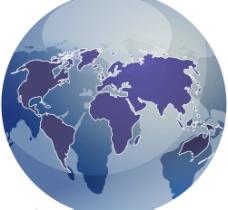地球与世界板块矢量素材图片