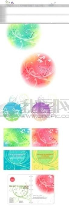 日式和风花纹背景矢量素材