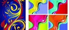2款 潮流 色彩 花纹 图案 矢量 素材图片