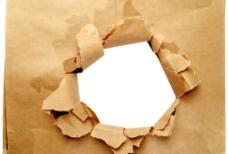 破洞纸张图片
