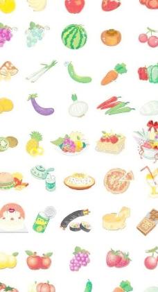 蔬菜简笔画彩色