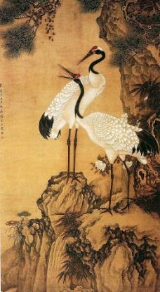 松鹤图图片