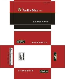 红黑精品男鞋包装图片
