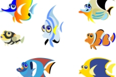 fish矢量图图片