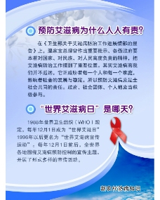 艾滋病小知识展板图片