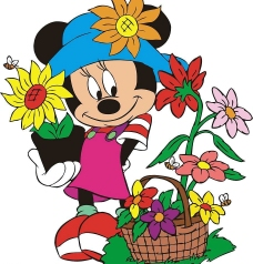 米妮卡通图图片