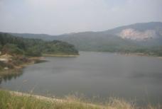 蓝天  山  水 自然 背景图片