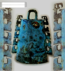 背景 出土文物 艺术品 钟 鼎 瓷器 古董 中华艺术绘画