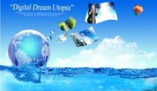 创意蓝色梦幻图片