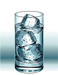 水杯里的冰图片