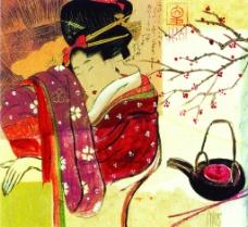 东方人物装饰画图片