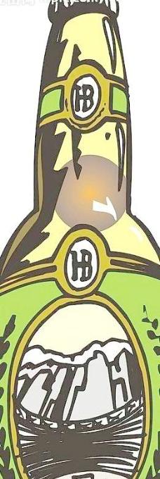 矢量啤酒瓶图片