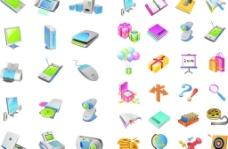 IT產品集合及文具圖片