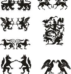 欧洲动物图腾集合图片