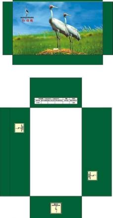 红顶鹤绿色包装图片