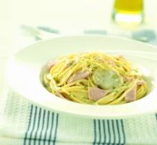 意式白汁蘑菇面  意大利面  西餐图片