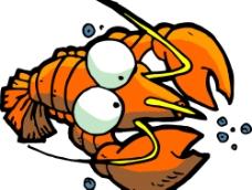 可爱龙虾图片