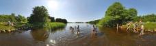 休闲湖泊旅游度假儿童图片