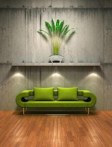 绿色沙发图片