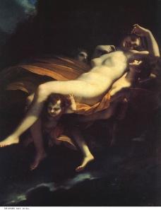 世界名画 油画普赛克的诱拐图片