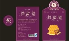 高档蜂蜜酒瓶标图片