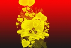 潮流设计水晶心形花纹笔刷
