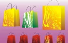 失量女性服务商场手提袋图片