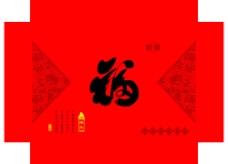 中国年礼盒设计模板PS图片