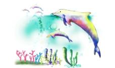 海洋動物風景圖片
