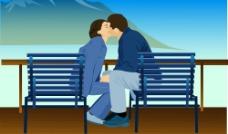 亲密情侣韩国矢量素材下载4图片