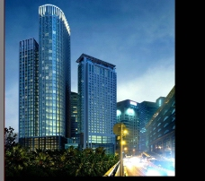 高楼大厦夜景图片