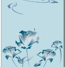 蓝玫瑰移门图片