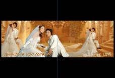 宽屏婚纱摄影模板图片