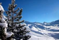 雪山雪地图片