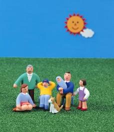 三维卡通幸福之家图片