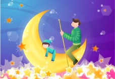 月亮船图片