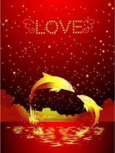 金色海豚(LOVE)图片