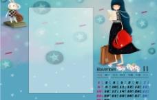 2009花季少女日历模板图片