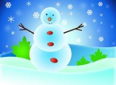 冬天里的雪人图片