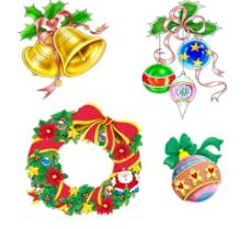 圣诞节素材 美丽的铃铛花圈等图片