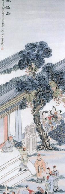 国画松树图片