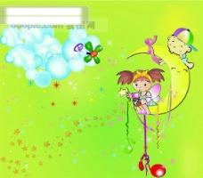 快乐 六一 儿童节 矢量图eps