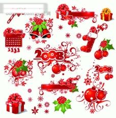 圣诞节装饰花纹矢量素材 圣诞节矢量图 花纹矢量素材eps
