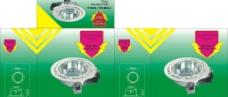 绿色草地灯具包装图片