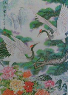 松鹤牡丹图图片