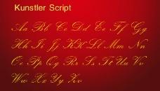 漂亮英文字体 Kunstler Script