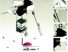 热潮涂鸦式设计0023